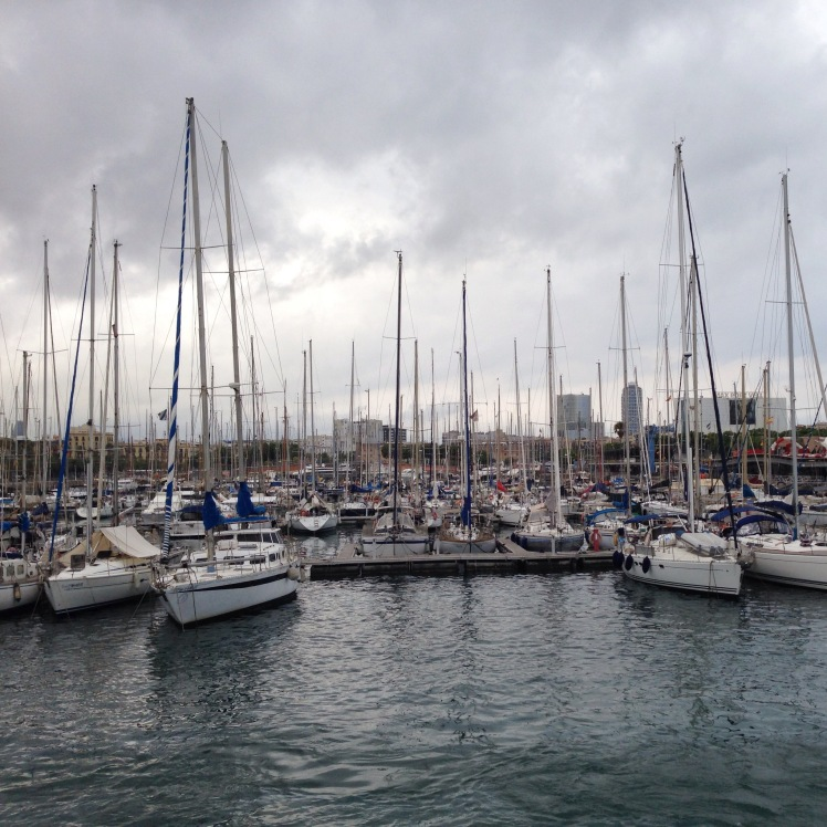 Barcelona Schiffe Hafen